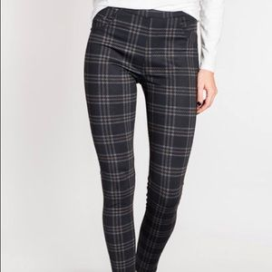 Sanctuary x Anthropologie plaid stretch leggings